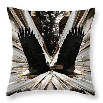 Eagle's Song Throw Pillow