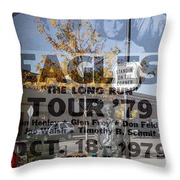 Eagles The Long Run Tour Throw Pillow