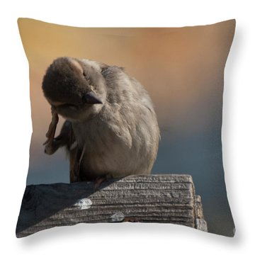 Ear Wax Throw Pillow