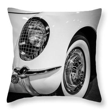 Early 1950's Chevrolet Corvette Throw Pillow by Paul Velgos