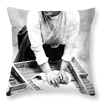 Hand Washing Throw Pillows