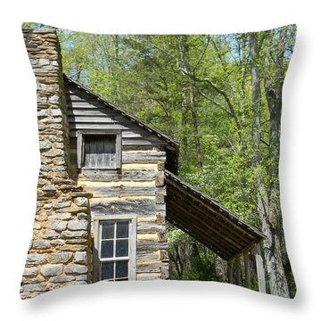 Early Appalachian Home Throw Pillow