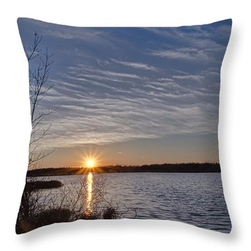 Throw Pillow featuring the photograph Early April Sunset by Beth Sawickie