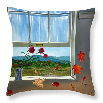 Early Autumn Breeze Throw Pillow by Christopher Shellhammer