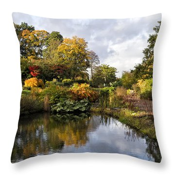 Throw Pillow featuring the photograph Early Autumn Light by Shirley Mitchell