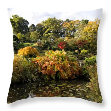 Early Autumn Morning Throw Pillow by Shirley Mitchell