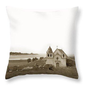 Early Carmel Mission And Point Lobos California Circa 1884 Throw Pillow