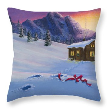 Early Christmas Morn Throw Pillow
