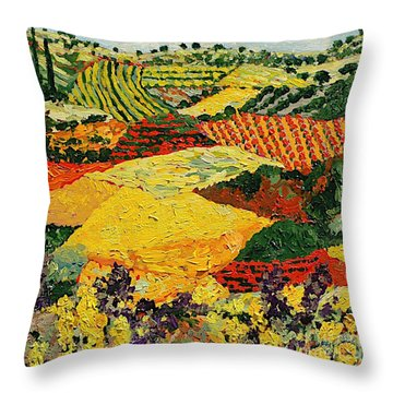 Early Clouds Throw Pillow by Allan P Friedlander