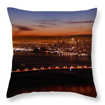 Early December Morning Pano Throw Pillow
