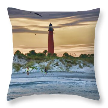 Early Evening Sky Throw Pillow by Deborah Benoit
