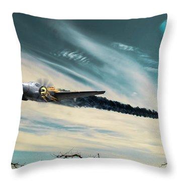 Early Landing Throw Pillow
