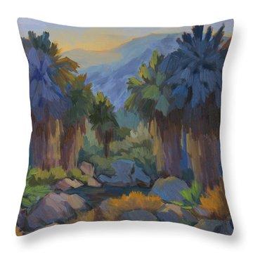 Early Light Indian Canyon Throw Pillow