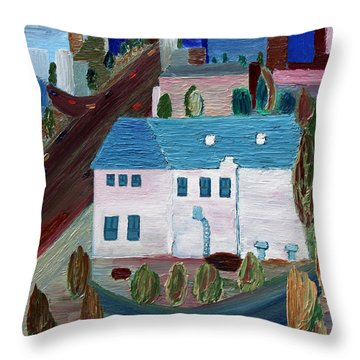 Early Memories Throw Pillow by Vadim Levin