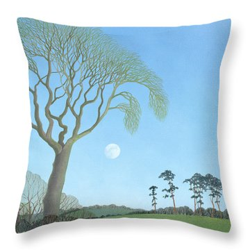 Early Moon, 2007 Oil On Canvas Throw Pillow