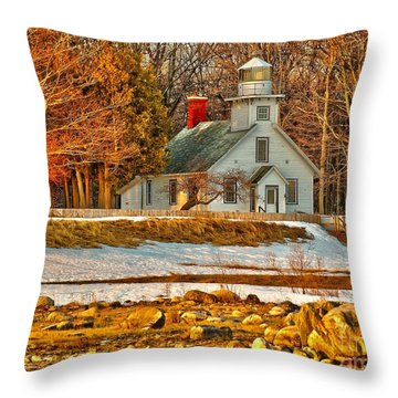 Early Morn At Mission Point Throw Pillow