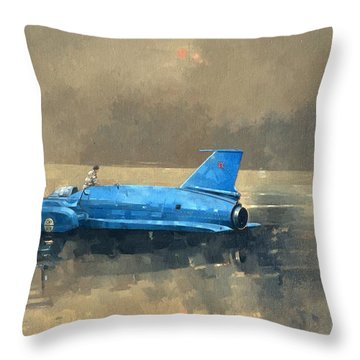 Early Morning At Coniston Oil On Canvas Throw Pillow