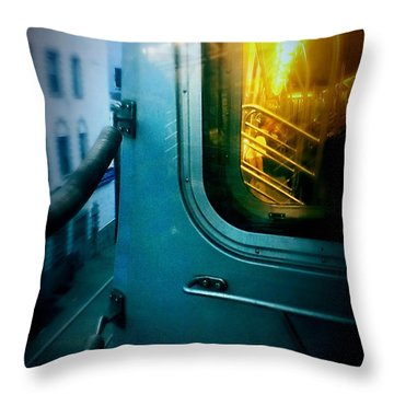 Early Morning Commute Throw Pillow by James Aiken