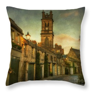 Early Morning Edinburgh Throw Pillow by Lois Bryan