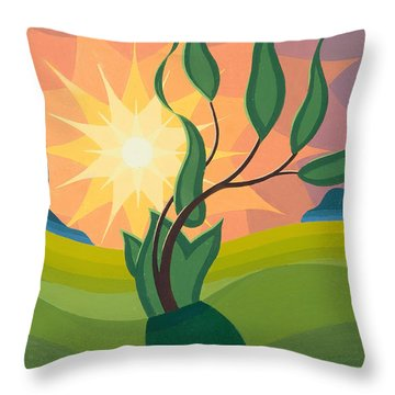 Early Morning Throw Pillow by Emil Parrag