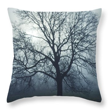 A Foggy Start Throw Pillow