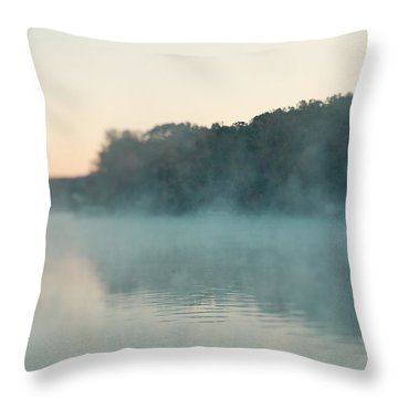 Throw Pillow featuring the photograph Early Morning Fog by Kim Fearheiley