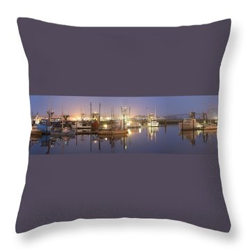Early Morning Harbor II Throw Pillow by Jon Glaser