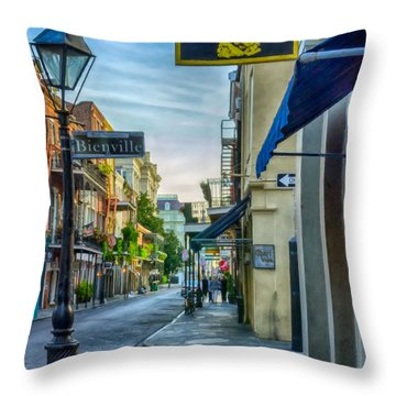 Early Morning In French Quarter Nola Throw Pillow by Kathleen K Parker