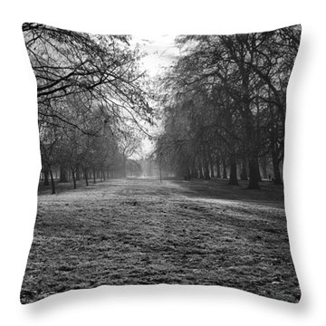 Early Morning In Hyde Park Throw Pillow