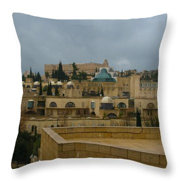 Throw Pillow featuring the photograph Early Morning In Jerusalem by Doc Braham