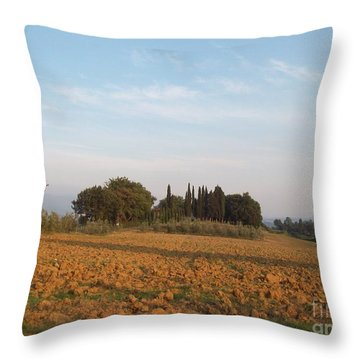 Early Morning In Loppiano Throw Pillow