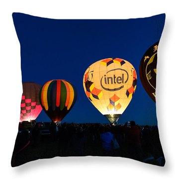 Early Morning Launch Throw Pillow