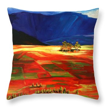 Early Morning Light, Peru Impression Throw Pillow