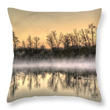 Throw Pillow featuring the photograph Early Morning Mist by Lynn Geoffroy