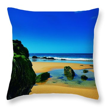 Early Morning On The Beach II Throw Pillow by Marco Oliveira