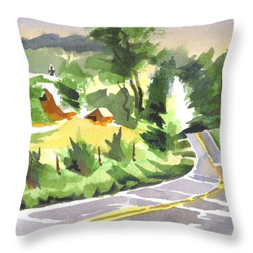Early Morning Out Route Jj Throw Pillow by Kip DeVore