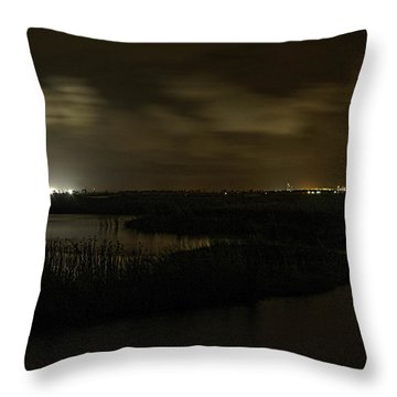 Throw Pillow featuring the digital art Early Morning Over Lake Shelby by Michael Thomas