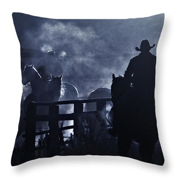 Throw Pillow featuring the photograph Early Morning Smoke by Joan Davis