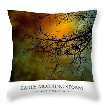 Early Morning Storm Throw Pillow