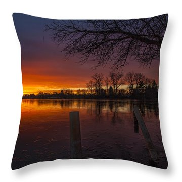 Throw Pillow featuring the photograph Early Morning Sunrise by Nicholas  Grunas