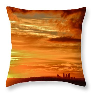 Early Morning Sunshine Over Fremantle Throw Pillow