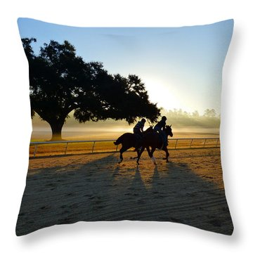 Early Morning Training Run Throw Pillow