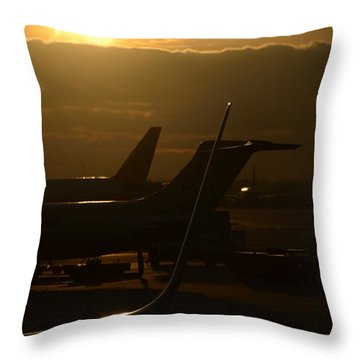Early Morning Trip Throw Pillow