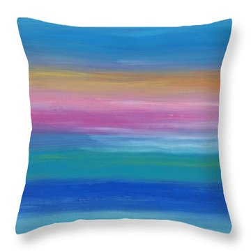 Early Ocean Sunrise Throw Pillow