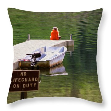 Early One Morning On Patterson Lake Throw Pillow by Omaste Witkowski