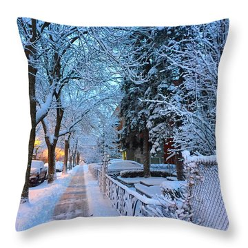 Early Rise Throw Pillow by Zinvolle Art