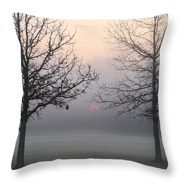 Early She Rises Throw Pillow