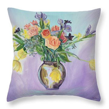 Early Spring Bouquet Throw Pillow