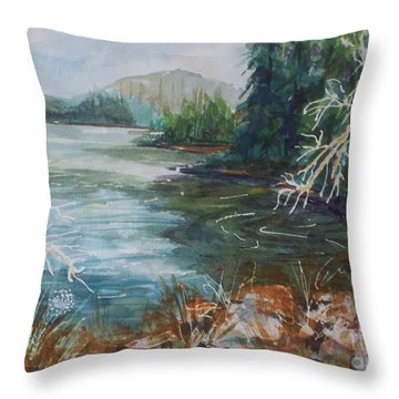 Early Spring Hike At North-south Lake Throw Pillow