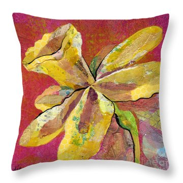 Early Spring II Daffodil Series Throw Pillow